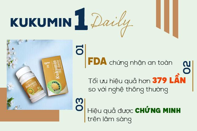 Kukumin 1 Daily hỗ trợ giảm đau nhức và chống viêm trong viêm khớp, thoái hóa khớp