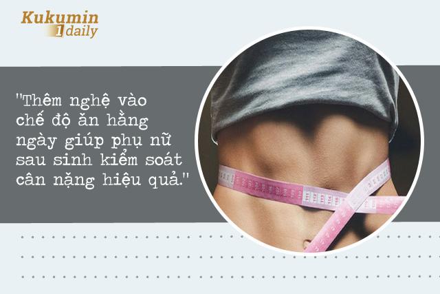 tác dụng của Nghệ với phụ nữ sau sinh: Kiểm soát cân nặng